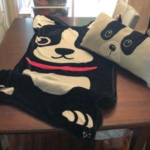 Justice French Bulldog sleeping bag blanket pillow